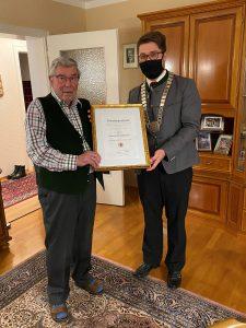 Herr Ludwig Weichselbaumer - Ernennung zum Ehrenbürger