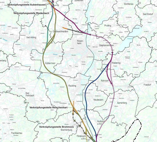 Abschluss Raumordnungsverfahren Brenner-Nordzulauf Abschnitt Gemeinde Tuntenhausen – Gemeinde Kiefersfelden