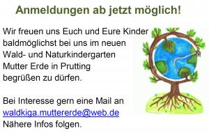 Wald- und Naturkindergarten – Anmeldungen ab jetzt möglich!