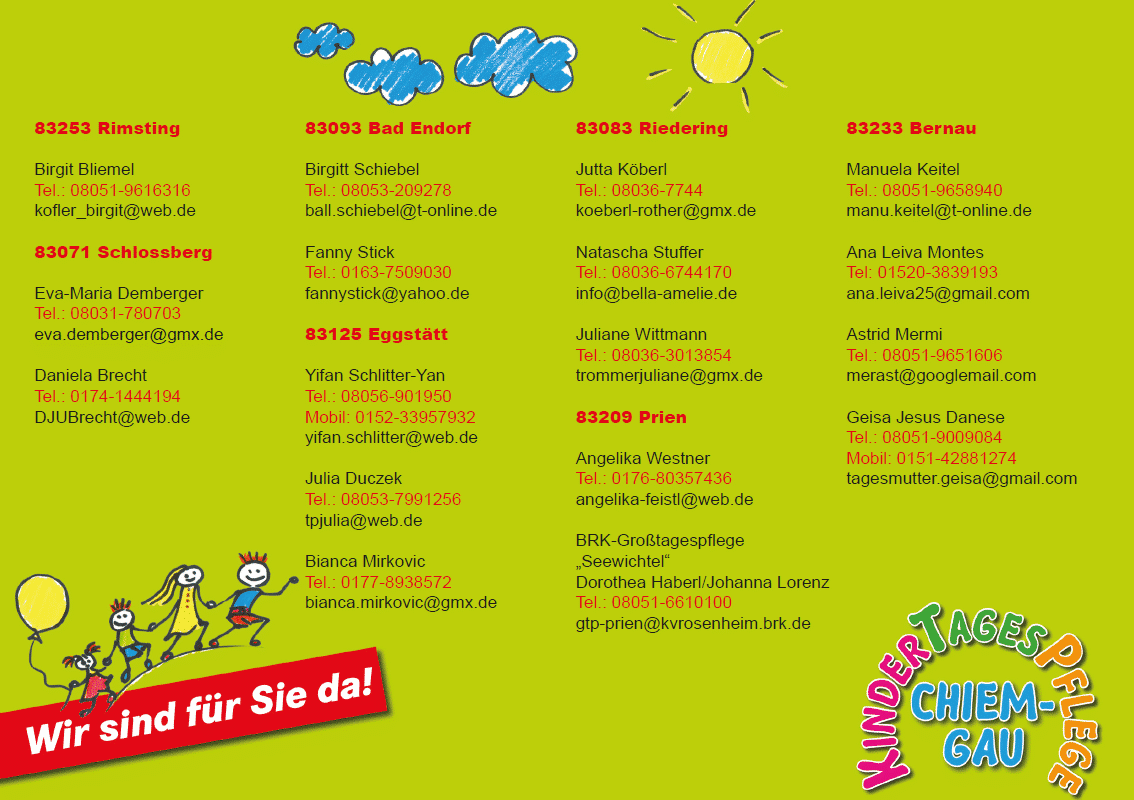 Kindertagespflege Chiemgau Flyer Back