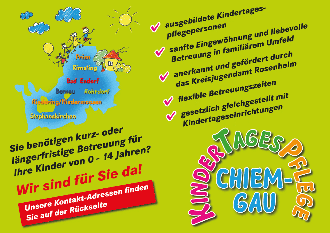 Kindertagespflege Chiemgau Flyer Front